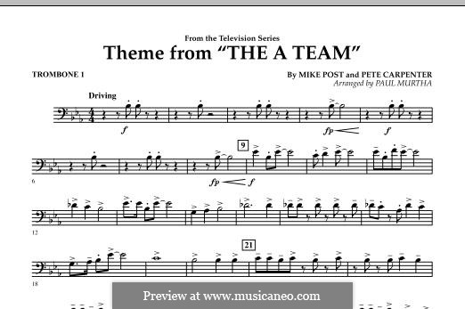 Theme from The 'A' Team: Trombone 1 part by Pete Carpenter
