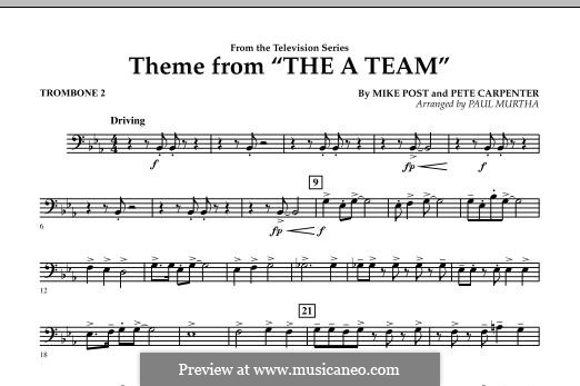Theme from The 'A' Team: Trombone 2 part by Pete Carpenter