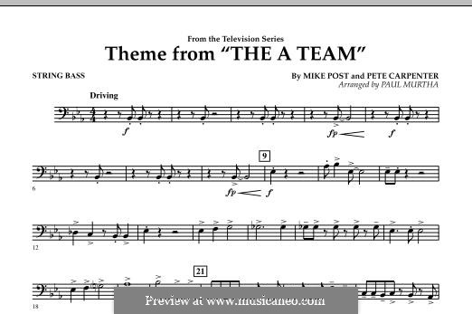 Theme from The 'A' Team: String Bass part by Pete Carpenter