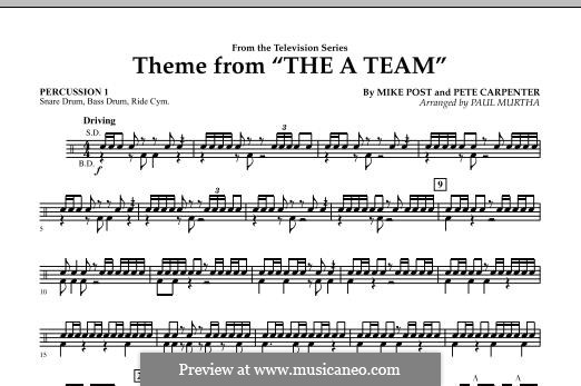 Theme from The 'A' Team: Percussion 1 part by Pete Carpenter