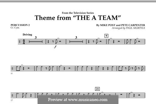Theme from The 'A' Team: Percussion 2 part by Pete Carpenter