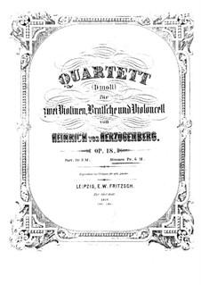 Струнный квартет ре минор, Op.18: Струнный квартет ре минор by Генрих фон Герцогенберг