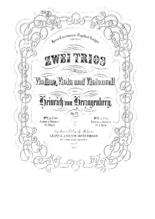 Струнные трио, Op.27: No.1 ля мажор – Партии by Генрих фон Герцогенберг
