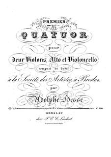 Струнный квартет No.1 ре минор, Op.23: Струнный квартет No.1 ре минор by Адольф Фридрих Хессе