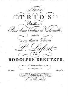Три трио для двух скрипок и виолончели: Скрипка II by Родольф Крейцер