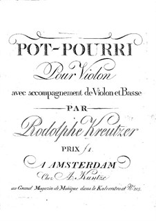 Попурри No.2 для двух скрипок и виолончели : Скрипка I by Родольф Крейцер