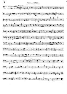 Попурри No.2 для двух скрипок и виолончели : Партия виолончели by Родольф Крейцер