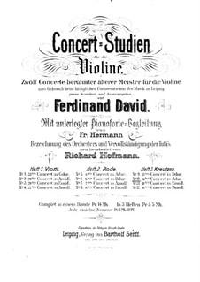Скрипичный концерт No.14: Для скрипки и фортепиано by Родольф Крейцер