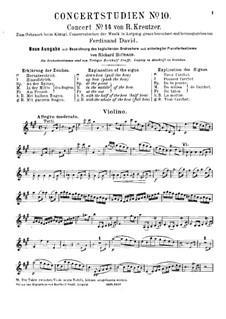 Скрипичный концерт No.14: Партия скрипки by Родольф Крейцер