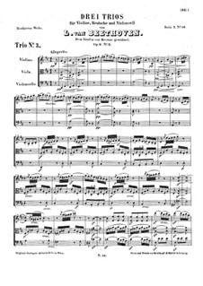 Струнное трио No.4 ре мажор, Op.9 No.2: Партитура by Людвиг ван Бетховен