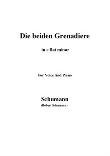 Романсы и баллады, Op.49: No.1 Two Grenadiers (e flat minor) by Роберт Шуман
