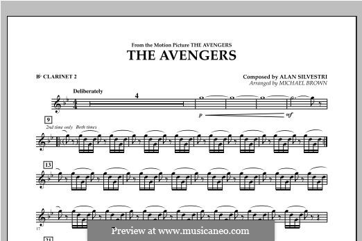 The Avengers: Bb Clarinet 2 part by Alan Silvestri