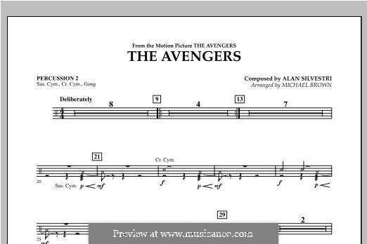 The Avengers: Percussion 2 part by Alan Silvestri