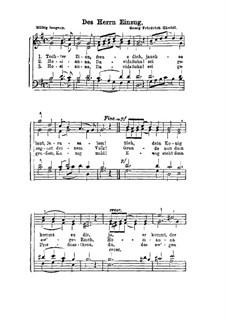 Des Herrn Einzug (Tochter Zion): Смешанный хор by Георг Фридрих Гендель