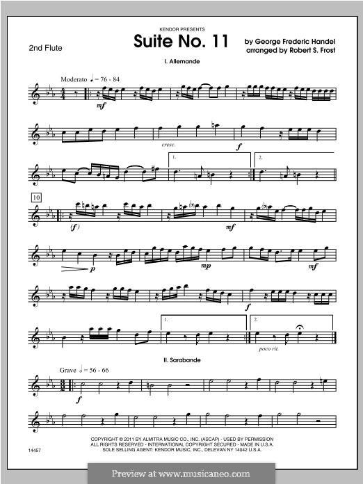 Сюита No.4 ре минор, HWV 437: For trio flutes – Flute 2 part by Георг Фридрих Гендель