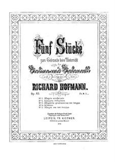 Пять пьес для скрипки и виолончели, Op.83: Партии by Ричард Хофман