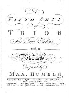 Шесть трио-сонат для струнных: Скрипка I by Maximilian Humble