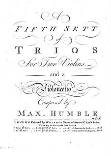 Шесть трио-сонат для струнных: Скрипка II by Maximilian Humble