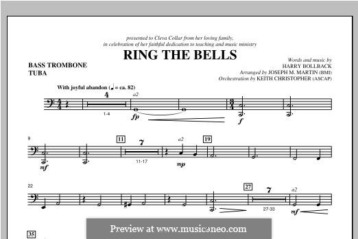 Ring the Bells: Bass Trombone/Tuba part by Harry Bollback