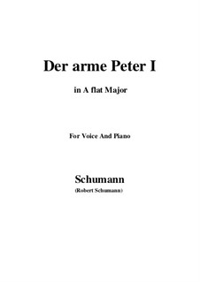 Романсы и баллады, Op.53: No.3 Der arme Peter (Poor Peter), Movement I (A flat Major) by Роберт Шуман