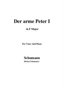 Романсы и баллады, Op.53: No.3 Der arme Peter (Poor Peter), Movement I (F Major) by Роберт Шуман