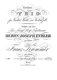 Струнное трио фа мажор, Op.96: Партия скрипки by Франц Кроммер