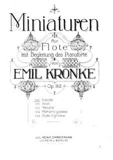 Миниатюры для флейты и фортепиано, Op.92: No.1 Гавот by Эмиль Кронке