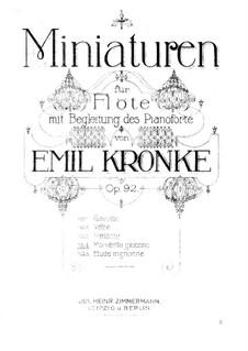 Миниатюры для флейты и фортепиано, Op.92: No.4 Momento giocoso by Эмиль Кронке