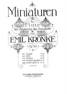 Миниатюры для флейты и фортепиано, Op.92: No.5 Etude mignonne by Эмиль Кронке