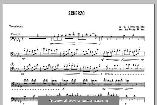 Scherzo: Партия тромбона by Феликс Мендельсон-Бартольди