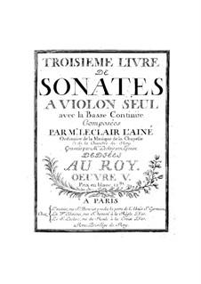 Двенадцать сонат для скрипки и бассо континуо, Op.5: Сборник by Жан-Мари Леклер
