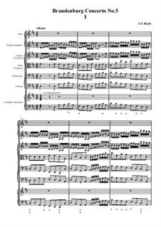 Бранденбургский концерт No.5 ре мажор, BWV 1050: часть I by Иоганн Себастьян Бах