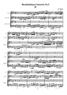 Бранденбургский концерт No.5 ре мажор, BWV 1050: часть II by Иоганн Себастьян Бах
