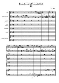 Бранденбургский концерт No.5 ре мажор, BWV 1050: часть III by Иоганн Себастьян Бах