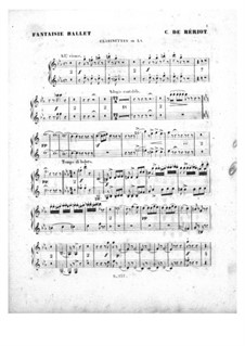Scène de ballet, Op.100: Партии кларнетов by Шарль Берио