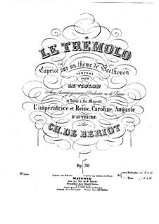 Le trémolo for Violin and Piano, Op.30: Сольная партия by Шарль Берио