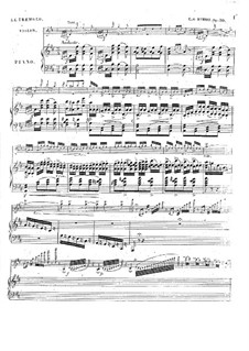 Le trémolo for Violin and Piano, Op.30: Партитура by Шарль Берио