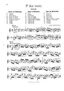 Арии с вариациями (избранные): No.1-3, 5, 7 – Партия by Шарль Берио