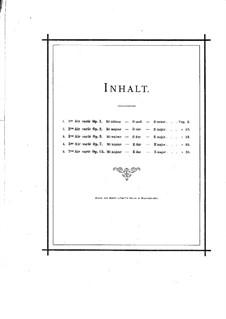 Арии с вариациями (избранные): No.1-3, 5, 7 – Партитура by Шарль Берио