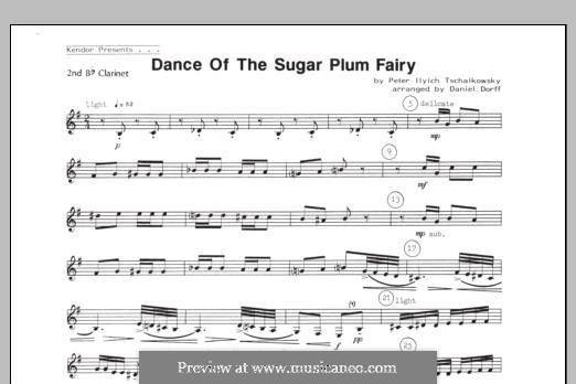 No.3 Танец феи Драже: For quartet clarinets – 2nd Bb Clarinet part by Петр Чайковский