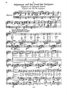 Одиссей, Op.41: Клавир с вокальной партией by Макс Брух
