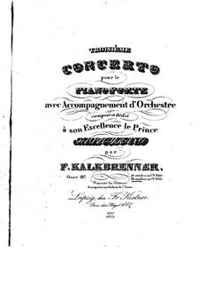 Фортепианный концерт No.3, Op.107: Фортепианный концерт No.3 by Фридрих Калькбреннер