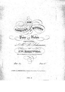 Шесть каприсов (или этюдов) для скрипки, Op.87: Шесть каприсов (или этюдов) для скрипки by Ян Калливода