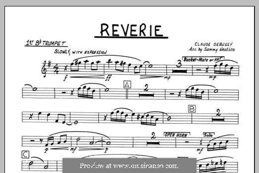 Reverie, for Orchestra, L.68: 1st Bb Trumpet part by Клод Дебюсси