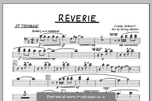 Reverie, for Orchestra, L.68: 1st Trombone part by Клод Дебюсси