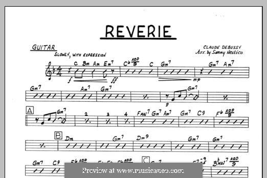 Reverie, for Orchestra, L.68: Партия гитары by Клод Дебюсси