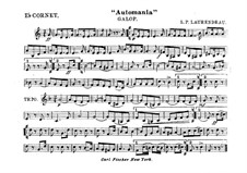 Automania. Galop for Cornet and Orchestra: Cornet in Es part by Louis-Philippe Laurendeau