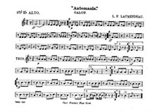 Automania. Galop for Cornet and Orchestra: Alto horn in Es II part by Louis-Philippe Laurendeau