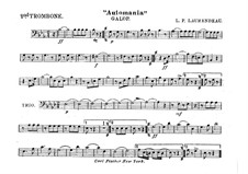 Automania. Galop for Cornet and Orchestra: Trombone II part by Louis-Philippe Laurendeau