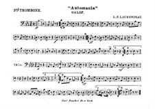 Automania. Galop for Cornet and Orchestra: Trombone III part by Louis-Philippe Laurendeau